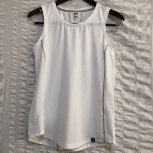 SALE Title 9 White Tank with Contrast Stitching
